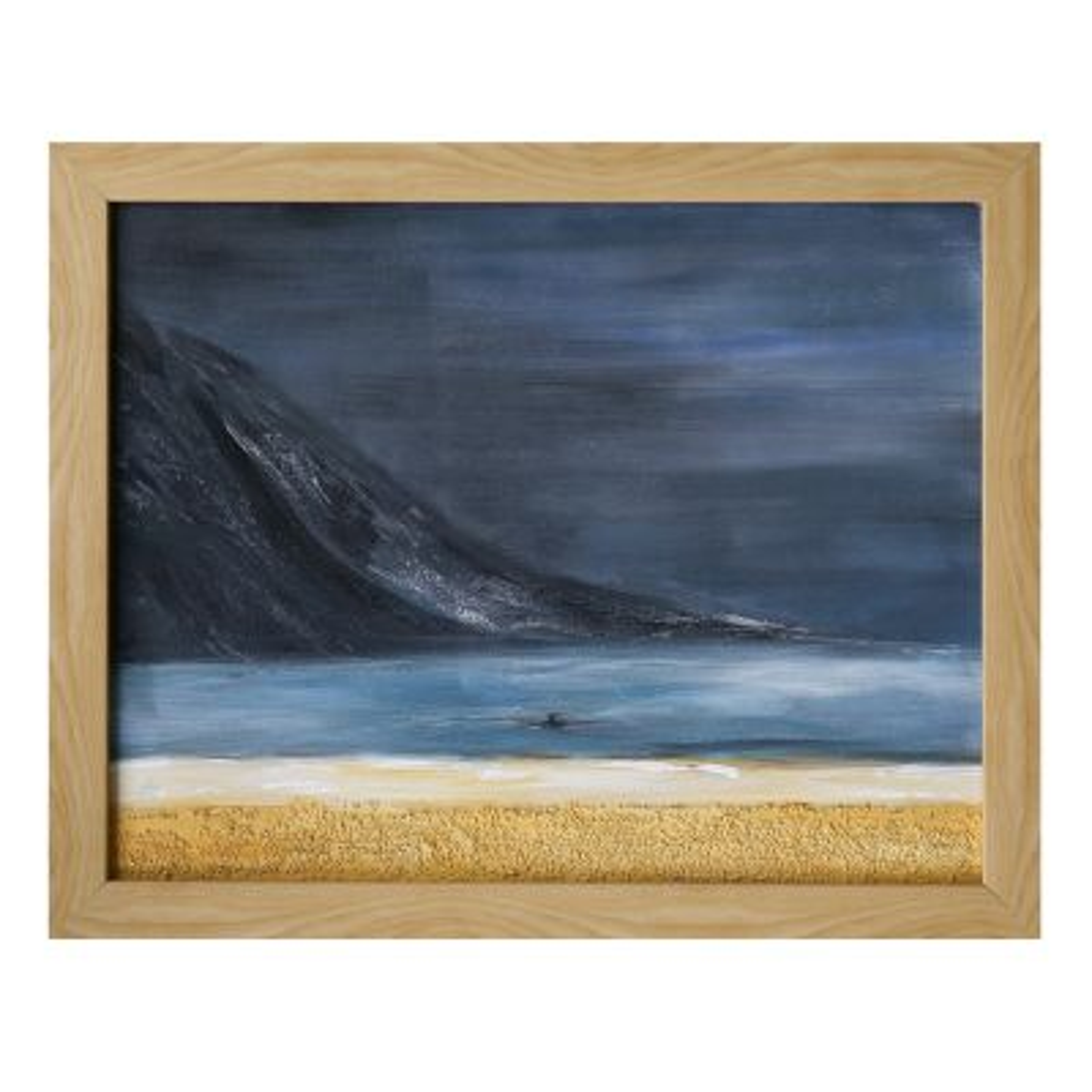 Photo of تابلو نقاشی گالری خورشید طرح کوه و ساحل شنی کد MA024