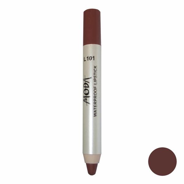 رژلب مدادی مودا مدل waterproof lipstick شماره L101