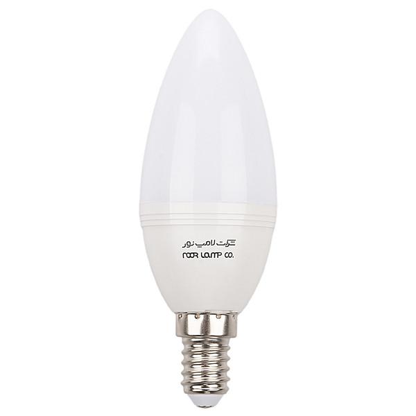 لامپ ال ای دی 6 وات شمعی مات نور پایه E14