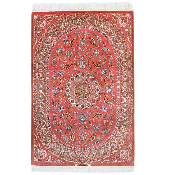 فرش دستبافت ابریشمی دو و نیم متری اثر حکیمی کد 182047