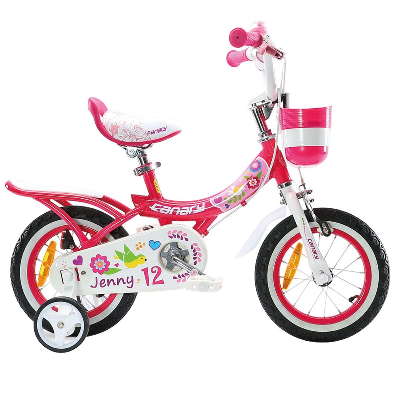 دوچرخه شهری قناری مدل Jenny سایز 12