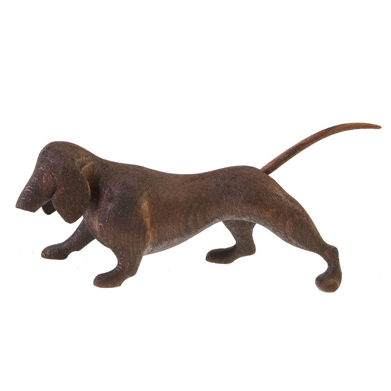 مجسمه چوبی گالری پورشیخ طرح سگ کد 190010