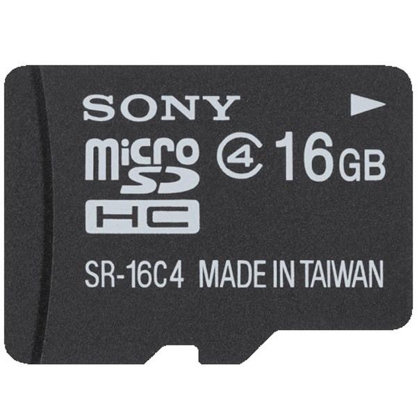 کارت حافظه ی میکرو SD سونی کلاس 4 - 16 گیگابایت با آداپتور