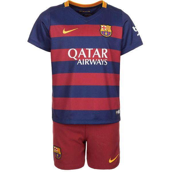 پیراهن و شورت ورزشی پسرانه تیم بارسلونا نایکی مدل FCB