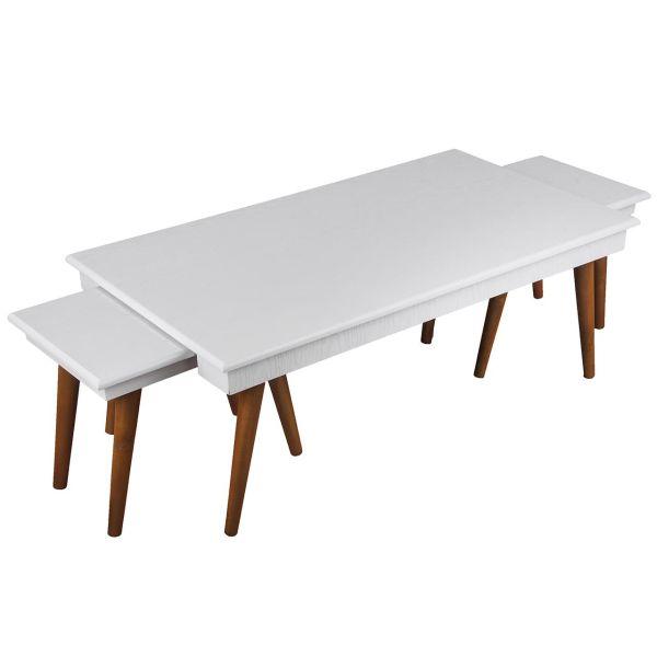 میز جلومبلی و مجموعه ی 2 عددی عسلی کارینو مدل EG311