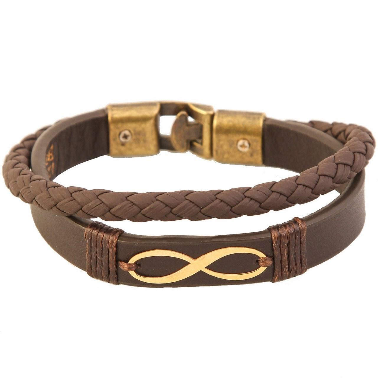 دستبند طلا 18 عیار کابوک مدل 175009 طرح بینهایت -  - 2