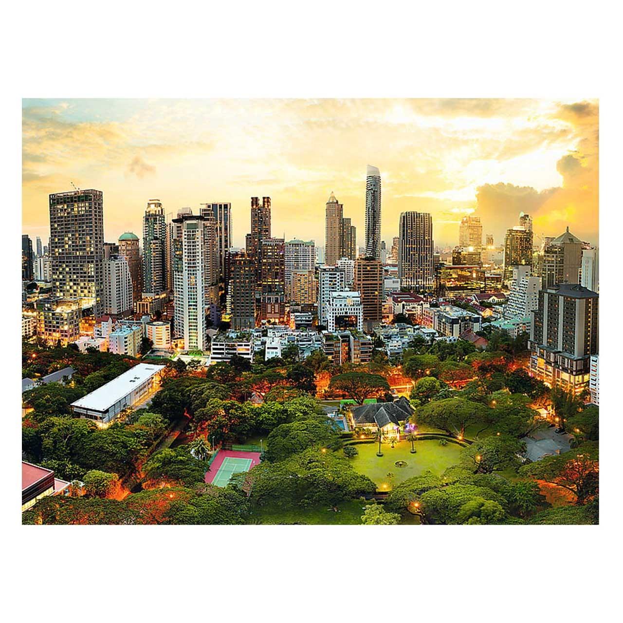 پازل 3000 تکه غروب خورشید در بانکوک -Trefl.  برابر کیفیت ادوکا، ravensburger, Educa