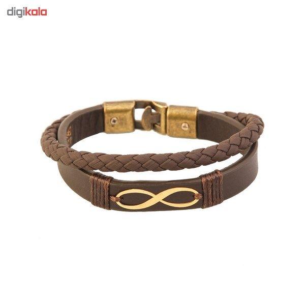 دستبند طلا 18 عیار کابوک مدل 175009 طرح بینهایت -  - 3