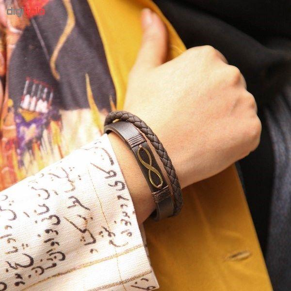 دستبند طلا 18 عیار کابوک مدل 175009 طرح بینهایت -  - 7