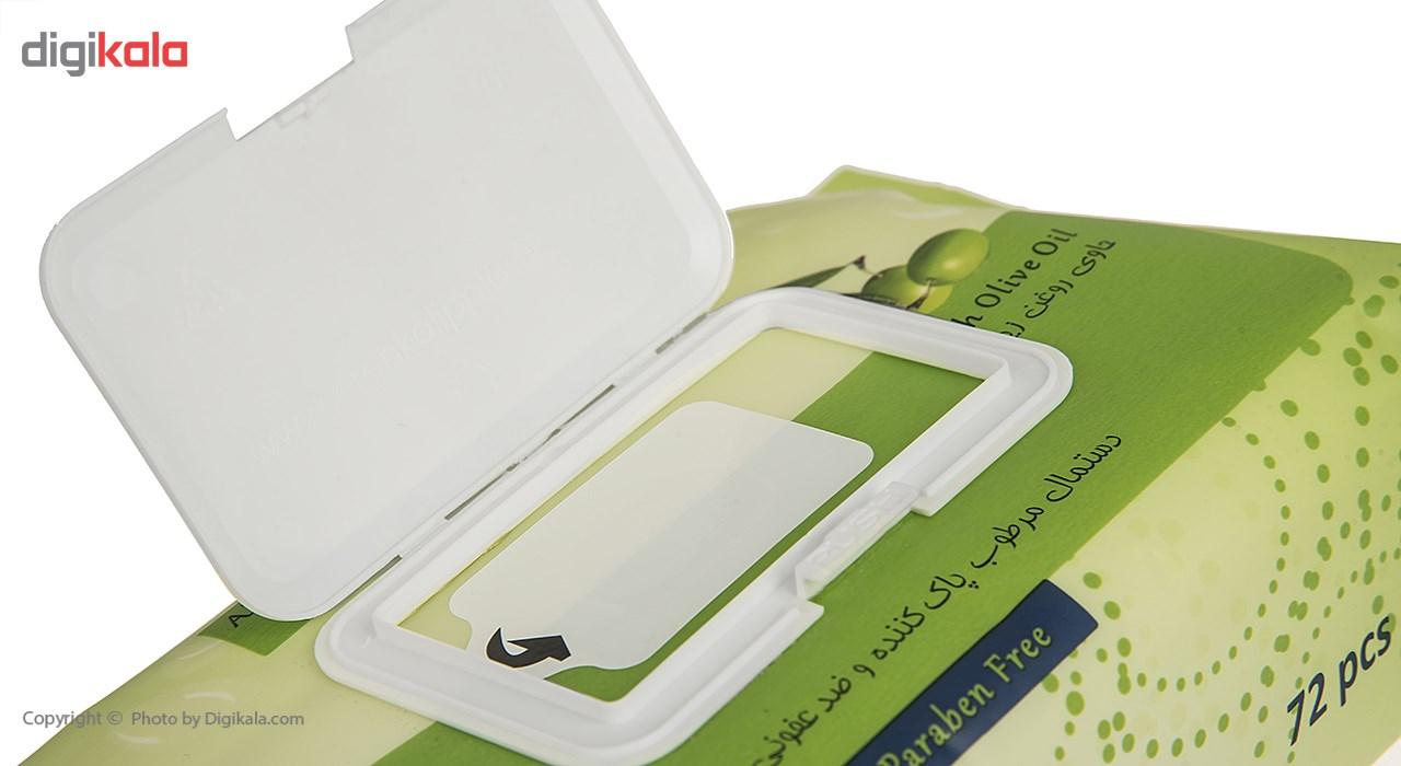 دستمال مرطوب یونی لد مدل Antibacterial Hand Cleansing With Olive Oil بسته 72 عددی main 1 3