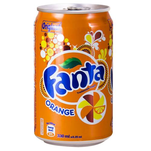 نوشابه پرتقالی فانتا مقدار 0.33 لیتر