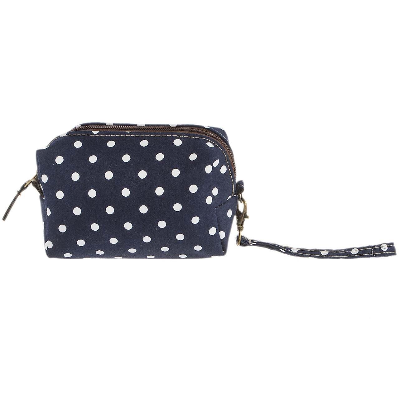 کیف آرایشی پارچه ای گالری صنم طرح خالدار سایز کوچک