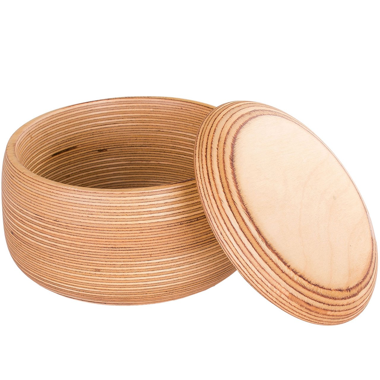 کاسه چوبی کارگاه دکو اکو درپوش دار