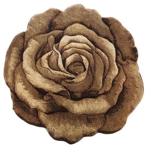 فرش تزیینی زرباف مدل گل رز سه بعدی سایز 100 × 100 سانتی متر