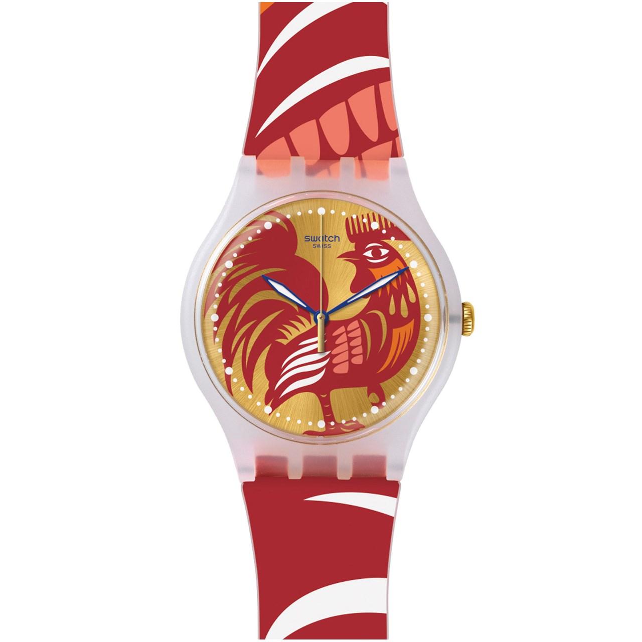 ساعت مچی عقربه ای زنانه سواچ مدل SUOZ226 19