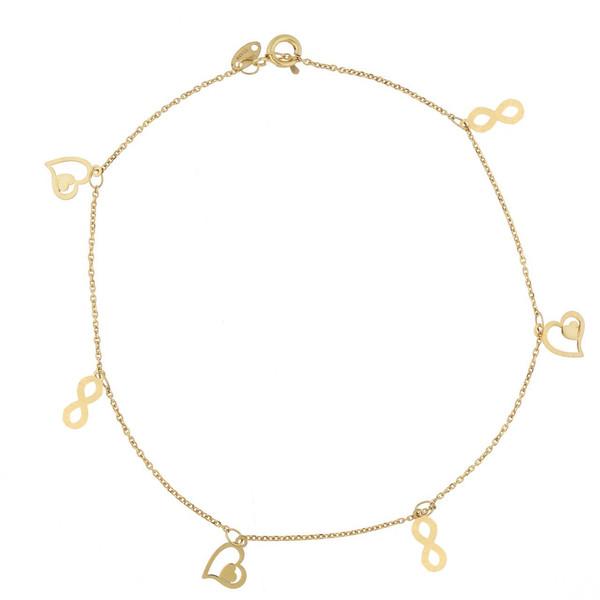 پابند طلا 18 عیار شانا کد A-SG09
