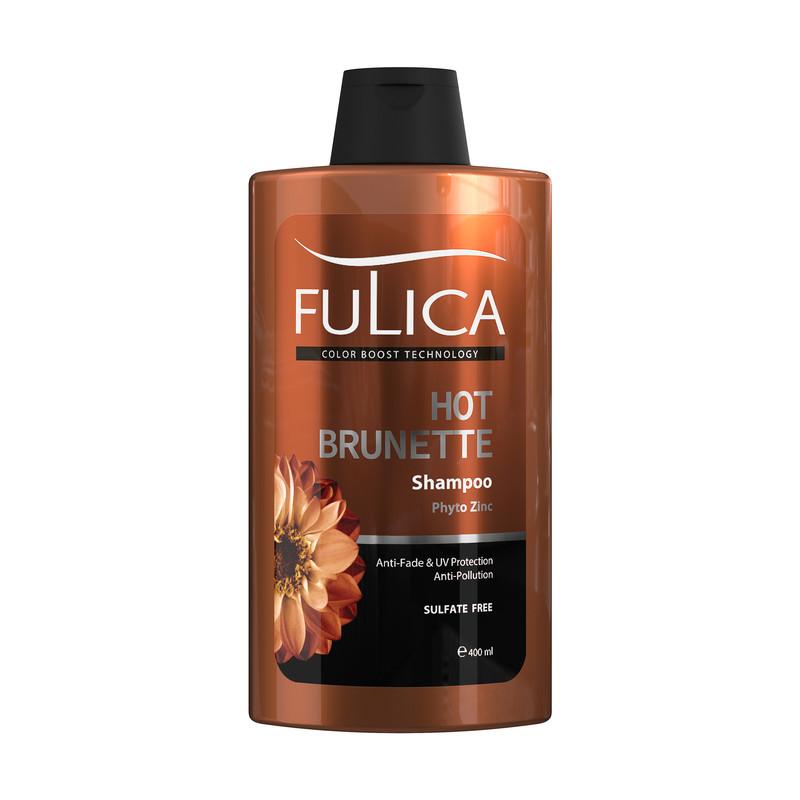 شامپو تثبیت کننده رنگ مو فولیکا مدل HOT BRUNETTE حجم 400 میلی لیتر