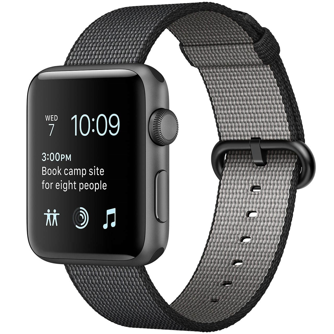 ساعت هوشمند اپل واچ سری 2 مدل 42mm Space Gray Aluminum Case with Black Woven Nylon