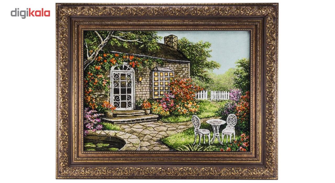 تابلو فرش گالری سی پرشیا طرح منظره کلبه جنگلی برجسته کد 901298 thumb 2 1