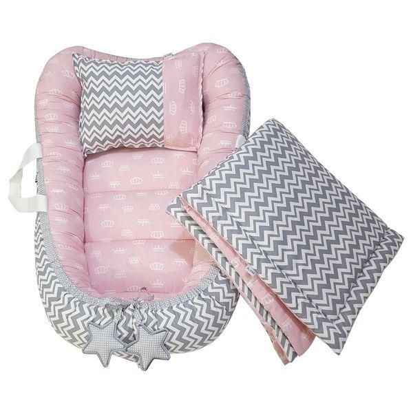 سرویس سه تکه خواب نوزادی آویراد طرح تاج کد Atpink0001