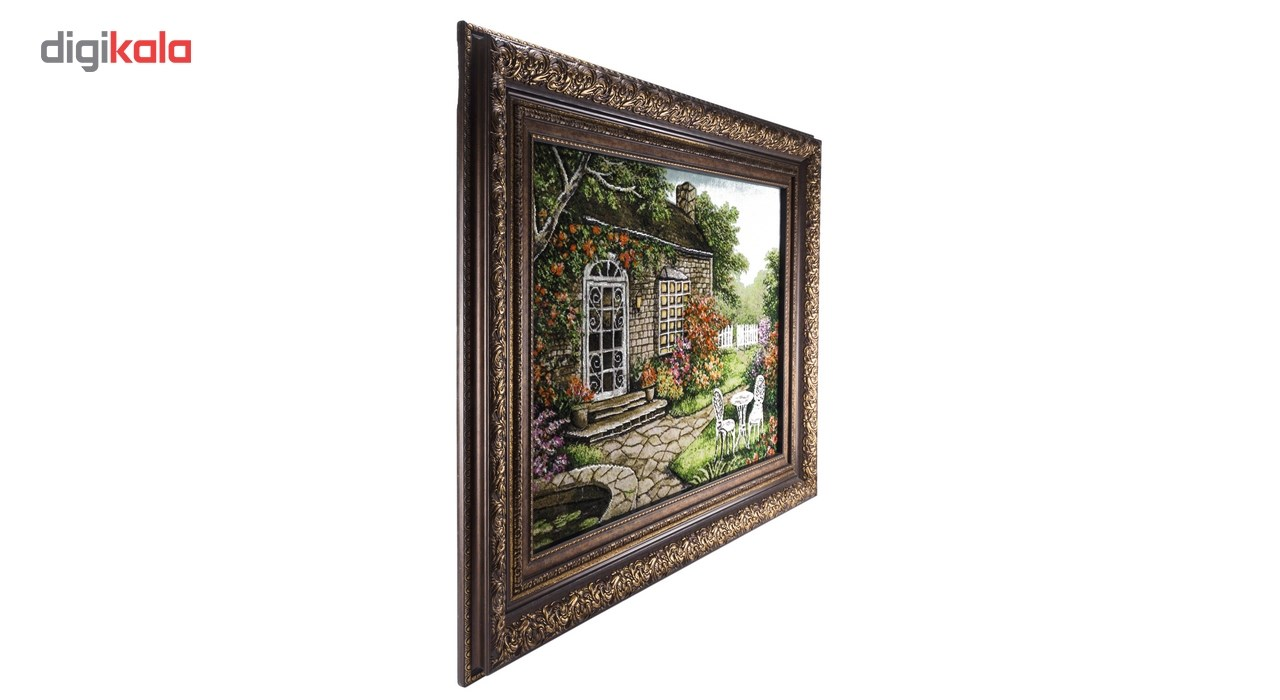 تابلو فرش گالری سی پرشیا طرح منظره کلبه جنگلی برجسته کد 901298 thumb 2 3