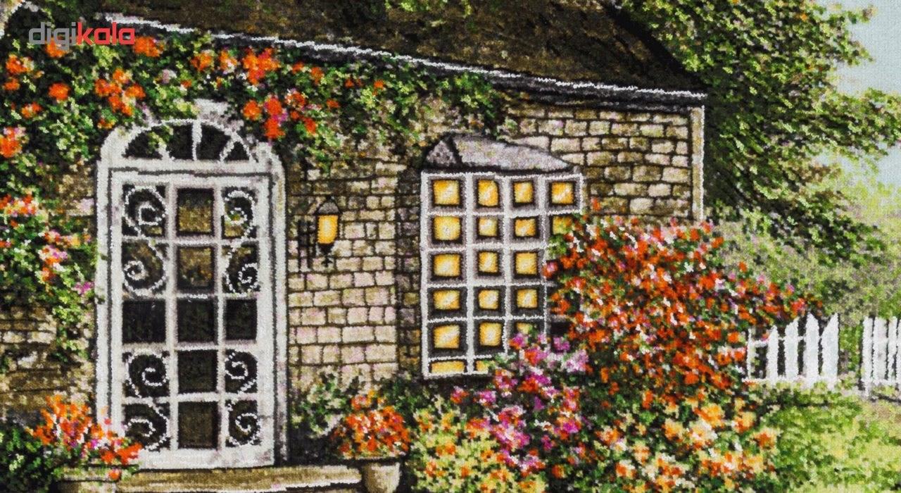 تابلو فرش گالری سی پرشیا طرح منظره کلبه جنگلی برجسته کد 901298 thumb 2 4