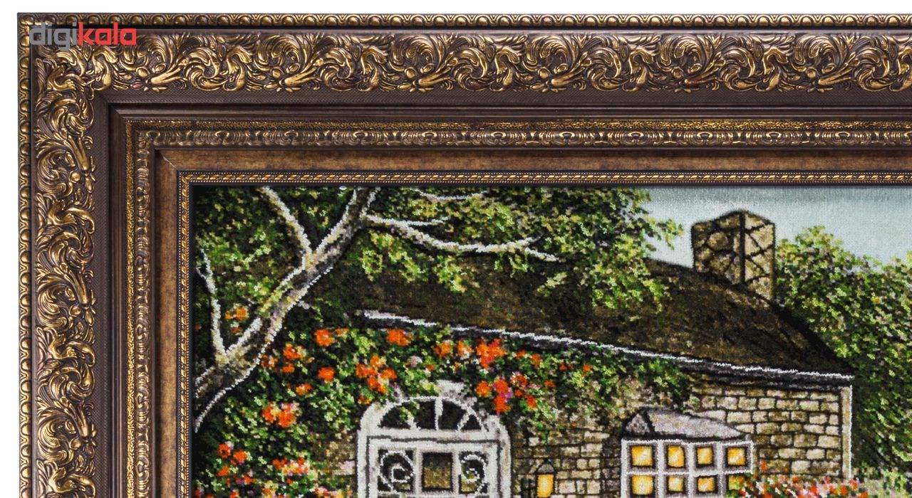 تابلو فرش گالری سی پرشیا طرح منظره کلبه جنگلی برجسته کد 901298 thumb 2 6