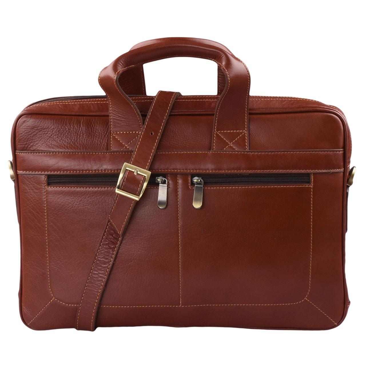 کیف اداری چرم طبیعی کهن چرم مدل LZ15