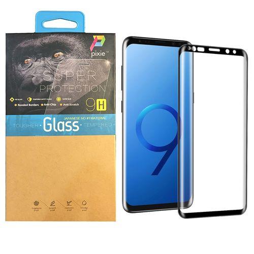 محافظ صفحه نمایش  تمام چسب شیشه ای پیکسی مدل 3D  مناسب برای گوشی سامسونگ گلکسی S9
