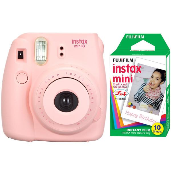 دوربین عکاسی چاپ سریع فوجی فیلم مدل Instax Mini 8 به همراه کاغذ چاپگر