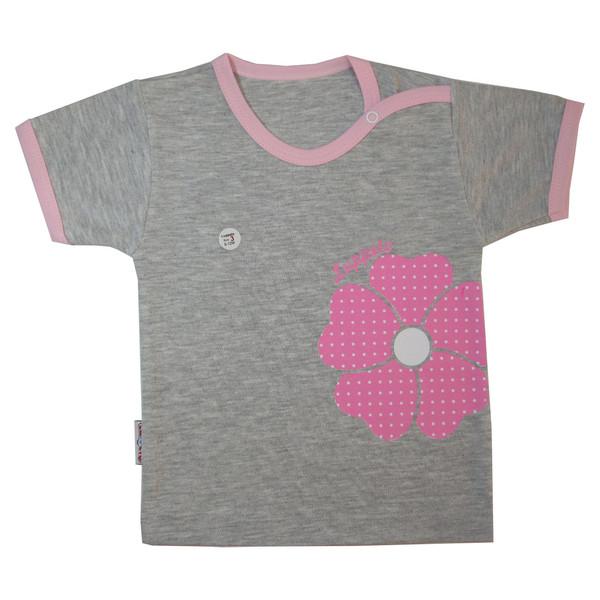 تی شرت نوزادی لوپتو طرح ارکیده کد 1730