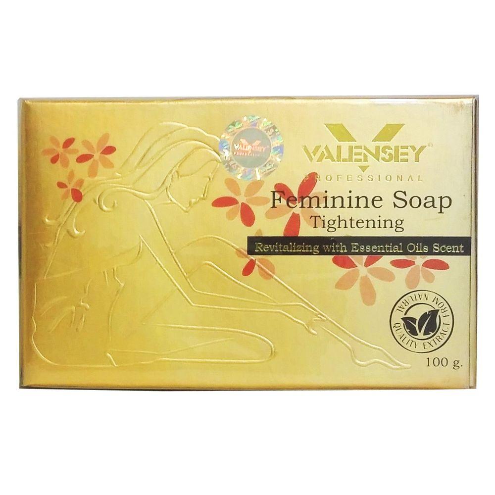 صابون بهداشتی بانوان والنسی مدل Feminine مقدار 100 گرم