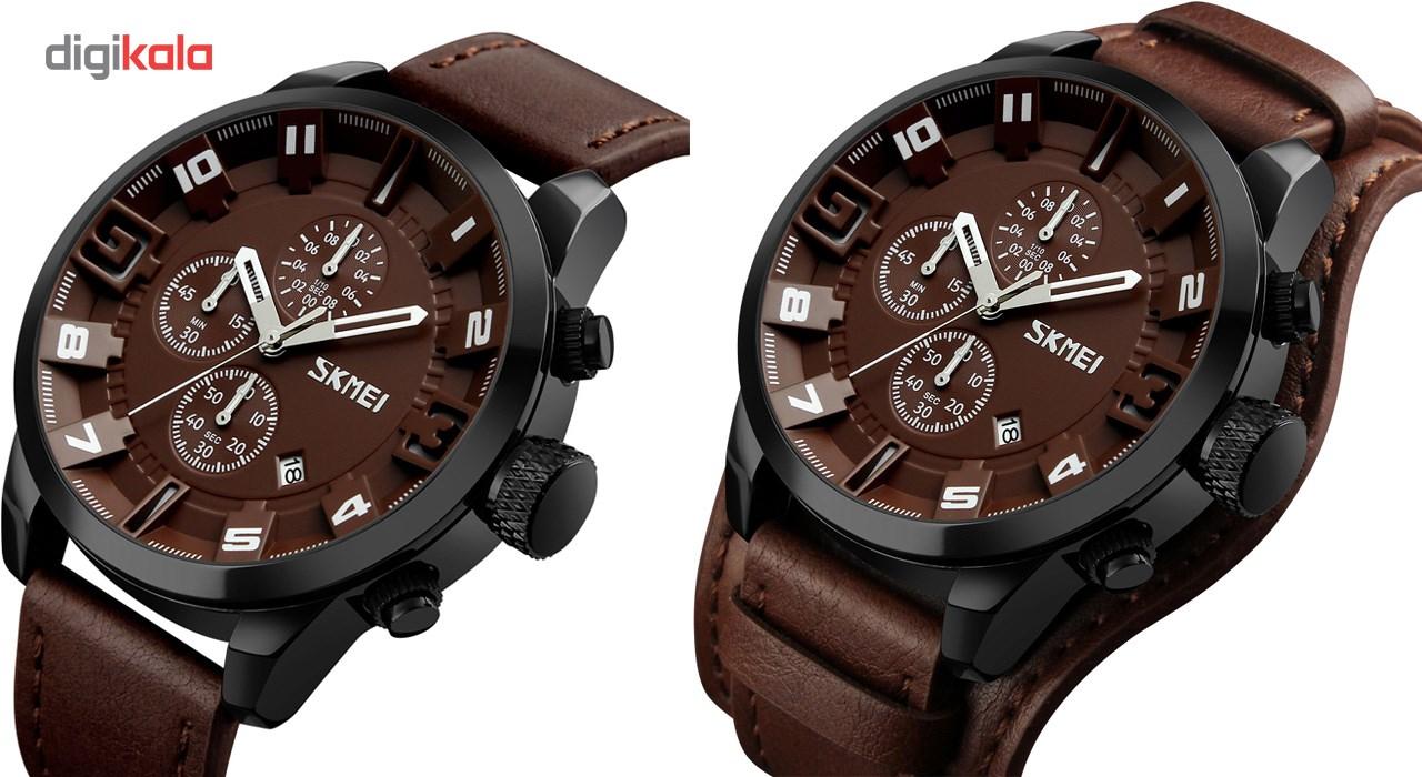 خرید ساعت مچی عقربه ای مردانه اسکمی مدل 9165 کد 02