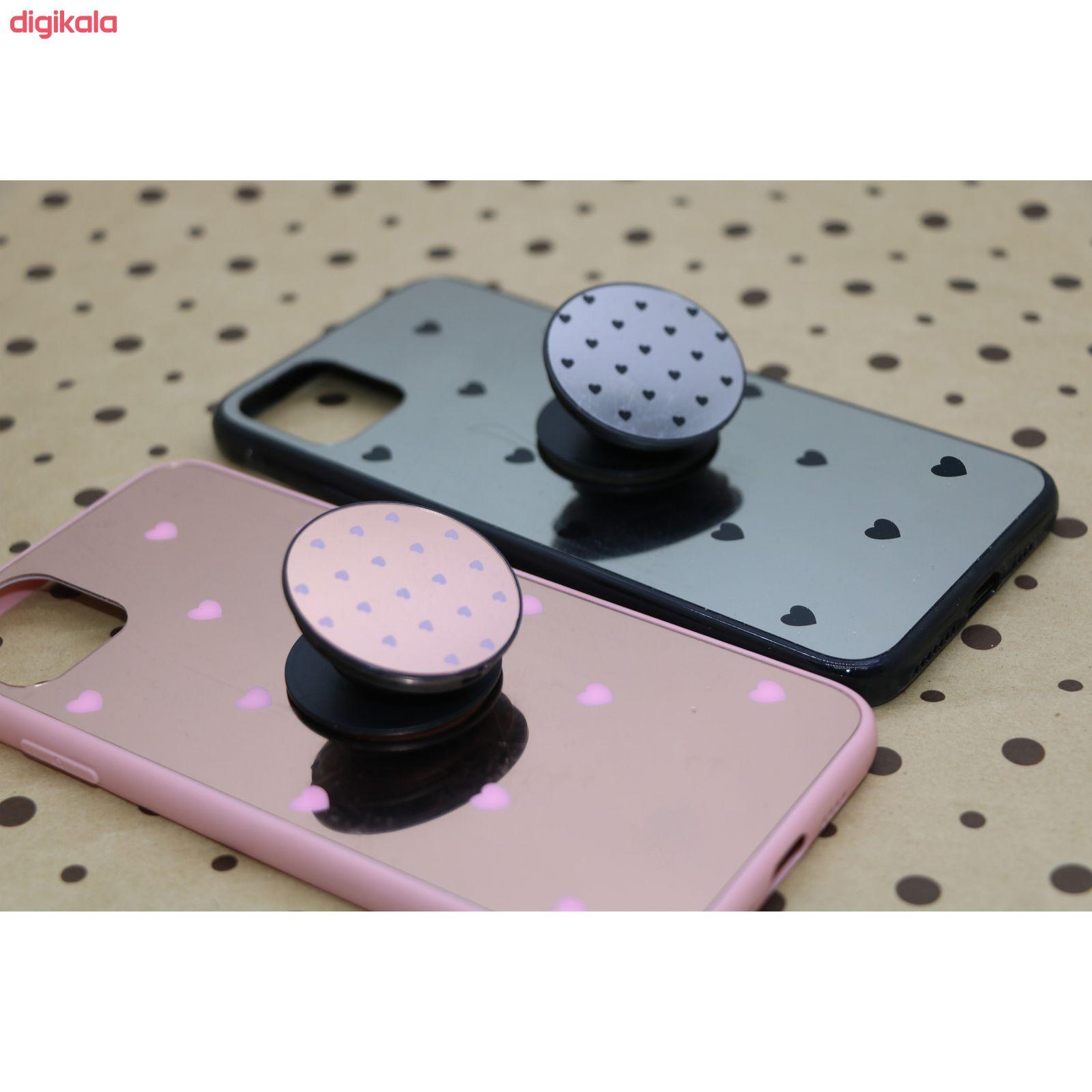 کاور طرح Heart مدل BH-01 مناسب برای گوشی موبایل اپل Iphone 11 به همراه نگهدارنده main 1 4