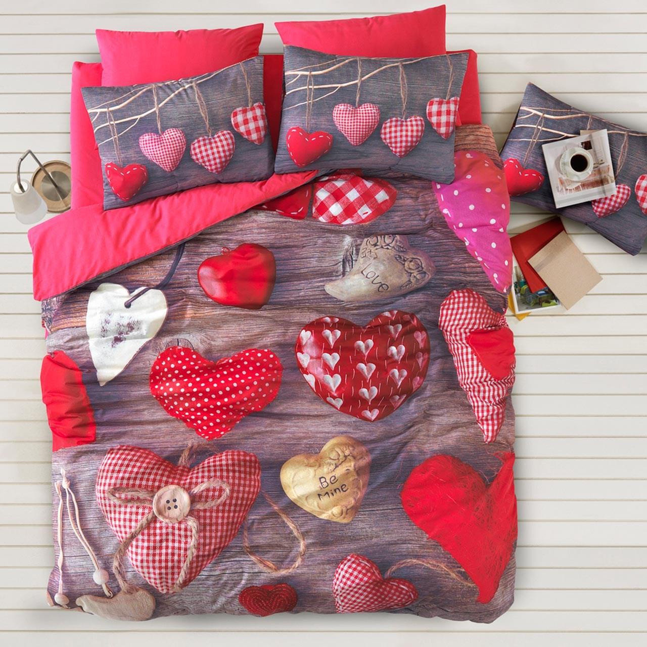 سرویس ملحفه ای گجلر استانبول مدل Valentine  یک نفره 3 تکه