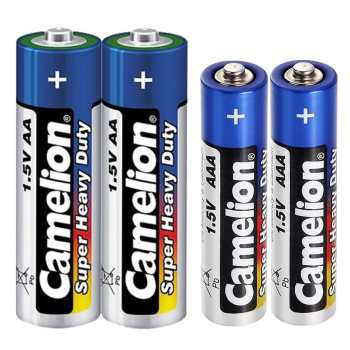 باتری قلمی و نیم قلمی کملیون مدل Super Heavy Duty بسته 4 عددی | Camelion Super Heavy Duty AA And AAA Battery Pack Of 4