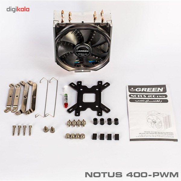 سیستم خنک کننده بادی گرین مدل NOTOUS 400-PWM main 1 2