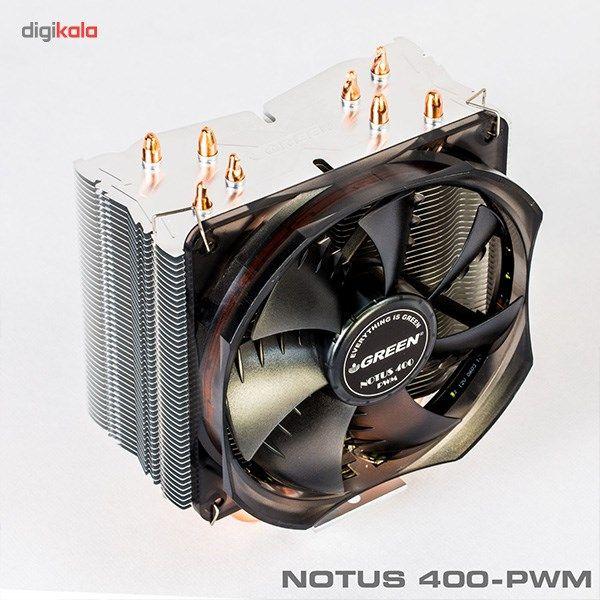 سیستم خنک کننده بادی گرین مدل NOTOUS 400-PWM main 1 7