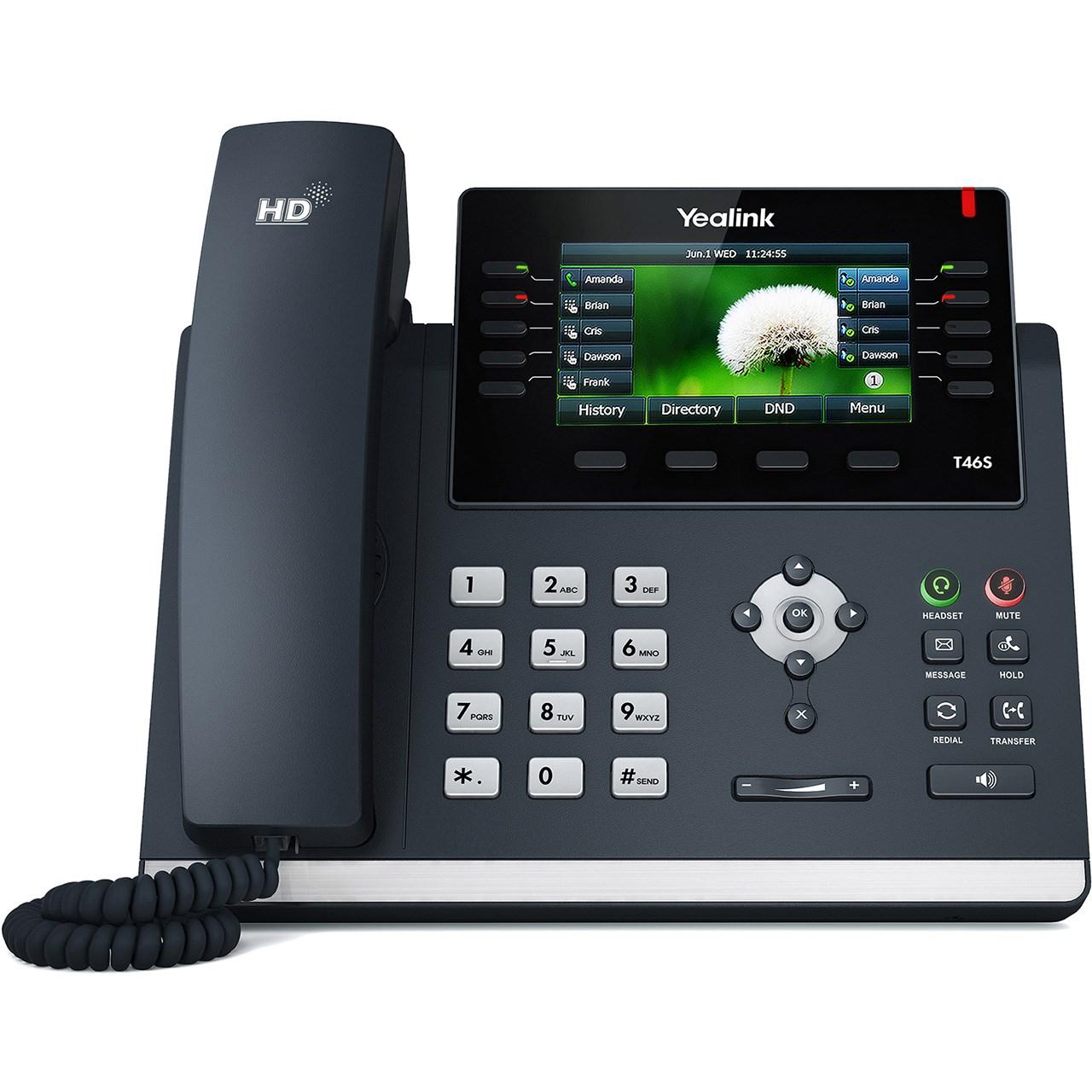 تلفن تحت شبکه یالینک مدل SIP T46S