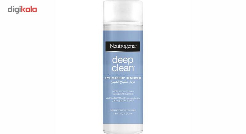 محلول پاک کننده آرایش چشم نوتروژینا مدل Deep Cleaner حجم 125 میلی لیتر