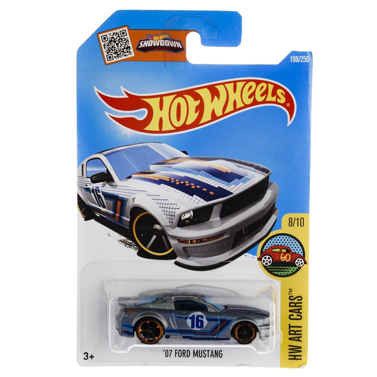 ماشین بازی متل سری هات ویلز مدل 07Ford Mustang