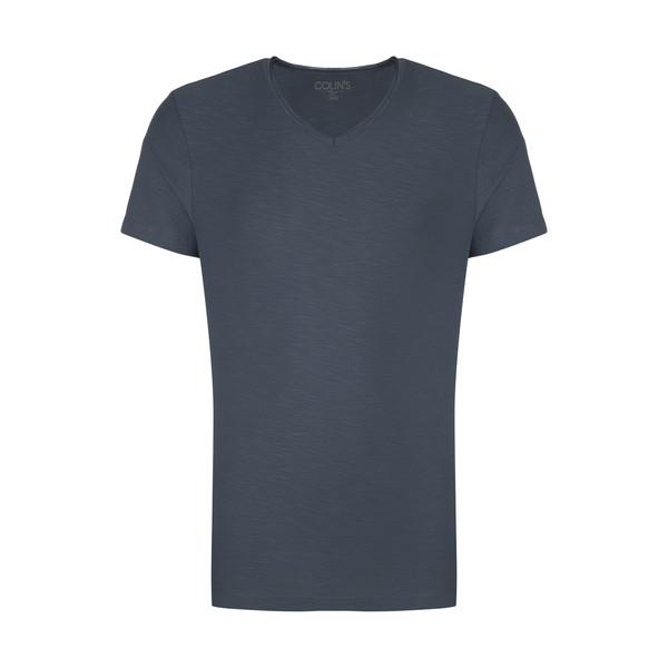 تیشرت آستین کوتاه مردانه کالینز مدل CL1006931-INDIGO
