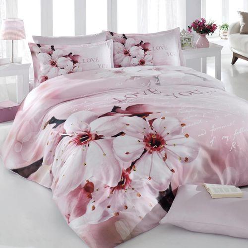 سرویس ملحفه ای گجلر استانبول مدل Sakura دو نفره 4 تکه