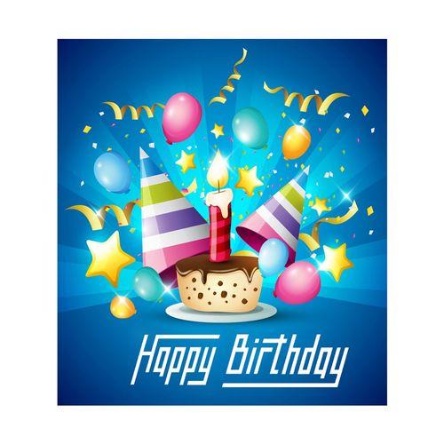بنر تم تولد طرح کیک تولد مدل Ranginkaman021-110