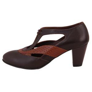 کفش چرم زنانه  شهرچرم مدل 66-39128