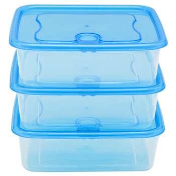ست سه تکه ظرف نگهدارنده فرش باکس مدل 650 آبی