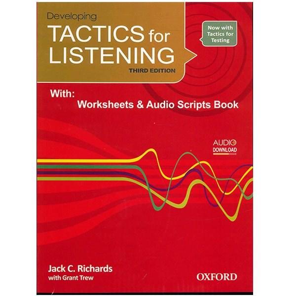کتاب زبان Developing Tactics For Listening Third Edition