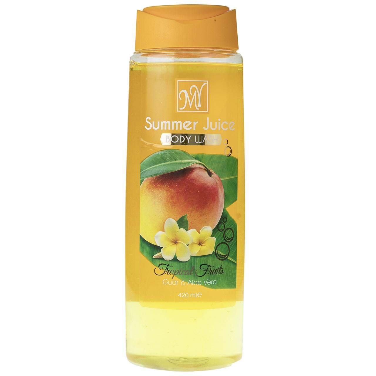 قیمت شامپو بدن مای مدل Summer Juice حجم 420 میلی لیتر