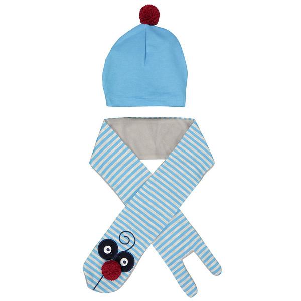 ست کلاه و شال گردن کودک دینو مدل 16S1-042