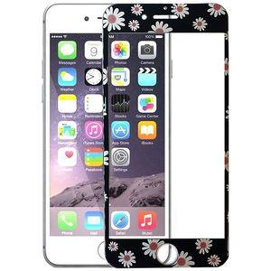 محافظ صفحه نمایش شیشه ای یوسومک full cover طرح flowers  مناسب برای گوشی موبایل آیفون 7پلاس